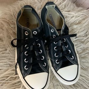 Converse All Star low tops in black, 8